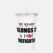 MY HEART BELONGS TO A HOT FIREFIGHTER Acrylic Doub