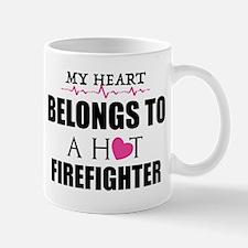 MY HEART BELONGS TO A HOT FIREFIGHTER Mugs