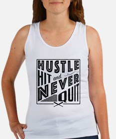 Baseball Hustle Hit & Never Quit Tank Top