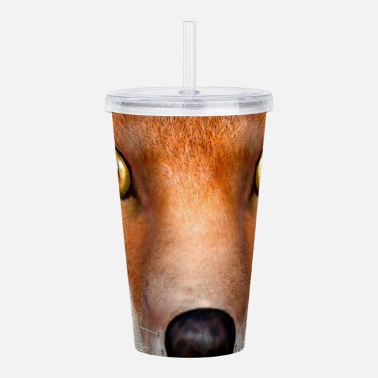 Red Fox Acrylic Double-wall Tumbler