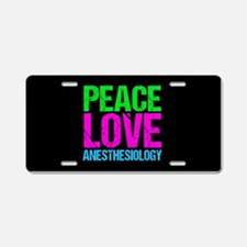 Cute Anesthesiology Aluminum License Plate