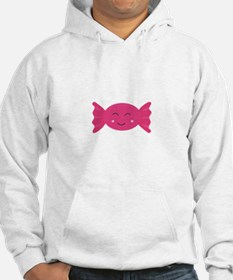 Pink candy bonbon with smile Hoodie