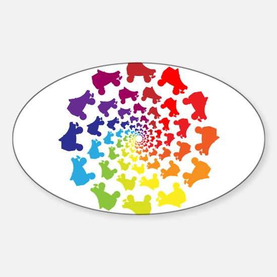 rainbow circle skate Decal