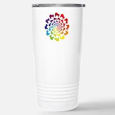 rainbow circle skate Travel Mug