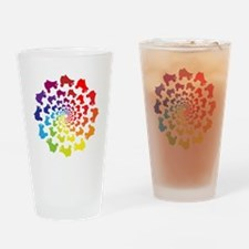 rainbow circle skate Drinking Glass