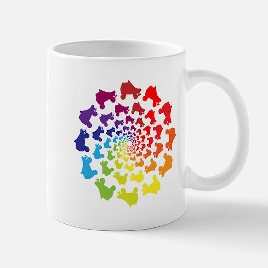 rainbow circle skate Mugs