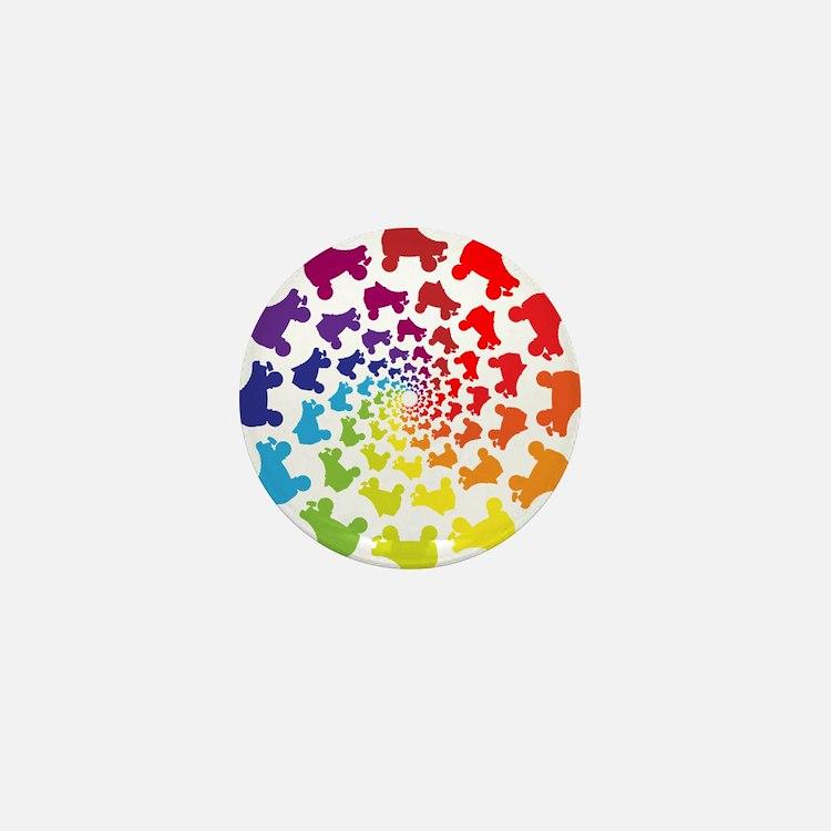 rainbow circle skate Mini Button