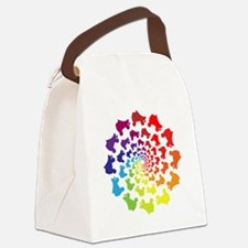 rainbow circle skate Canvas Lunch Bag