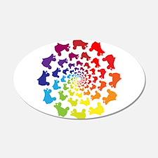 rainbow circle skate Wall Decal