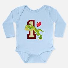 T-Rex 1st Birthday Long Sleeve Infant Bodysuit