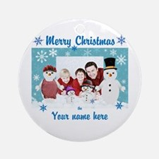 Snowman Christmas Round Ornament