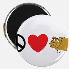 Peace Love & Beaver Magnets