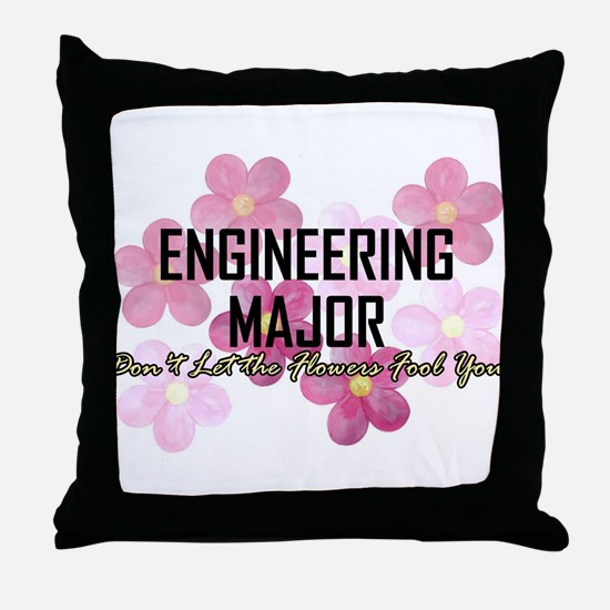 Engineer's Flower Power Throw Pillow