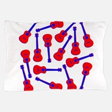 Red Ukuleles Pillow Case