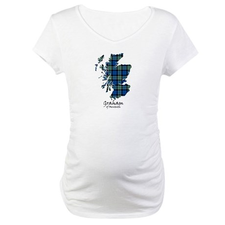 Map - Graham of Menteith Maternity T-Shirt