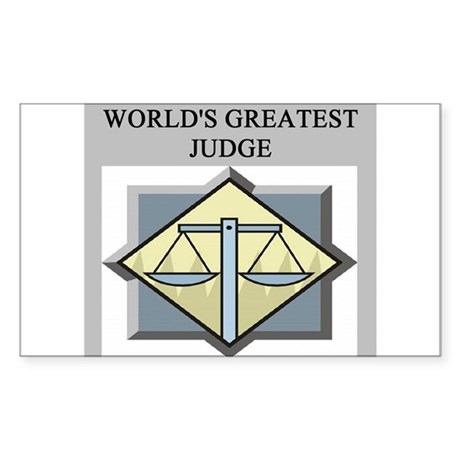 judge gifts t-shirts Rectangle Sticker
