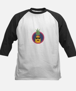 Cool pineapple with sunglasses Baseball Jersey