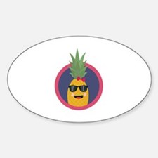 Cool pineapple with sunglasses Decal