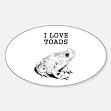 I Love Toads Decal