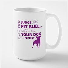 Before you judge (purple) Mugs