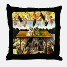 Cute Nativity Throw Pillow