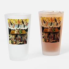 Funny Nativity Drinking Glass