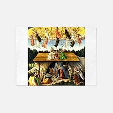 Mystical Nativity Botticelli 5'x7'Area Rug