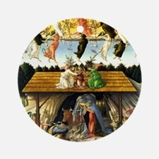 Mystical Nativity Botticelli Round Ornament
