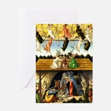 Mystical Nativity Botticelli Greeting Cards