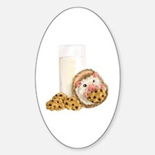 Cute Chocolate chip cookies Sticker (Oval)