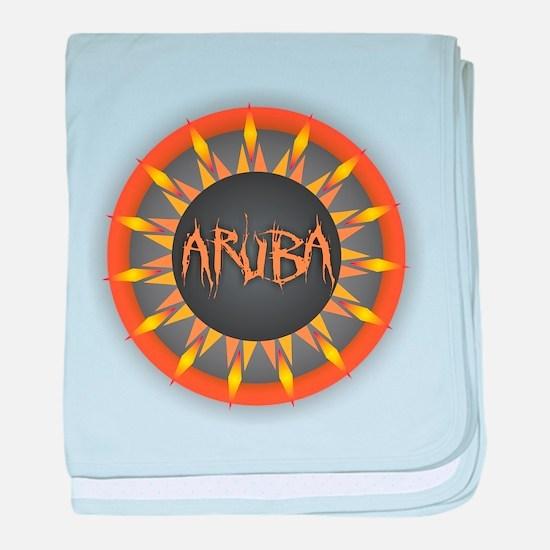 Aruba Hot Sun baby blanket