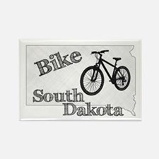 Bike South Dakota Rectangle Magnet