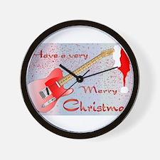 Rocking Christmas Wall Clock