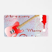 Rocking Christmas Aluminum License Plate
