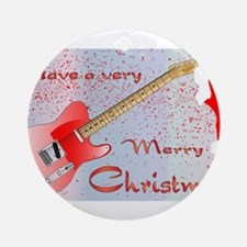 Rocking Christmas Round Ornament