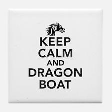 Keep calm and Dragon boat Tile Coaster