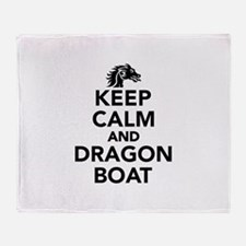 Keep calm and Dragon boat Throw Blanket