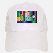 Stained Glass Baseball Baseball Cap