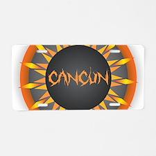 Cancun Hot Sun Aluminum License Plate
