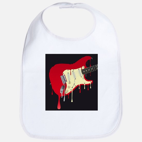 Melting Electric Guitar Bib