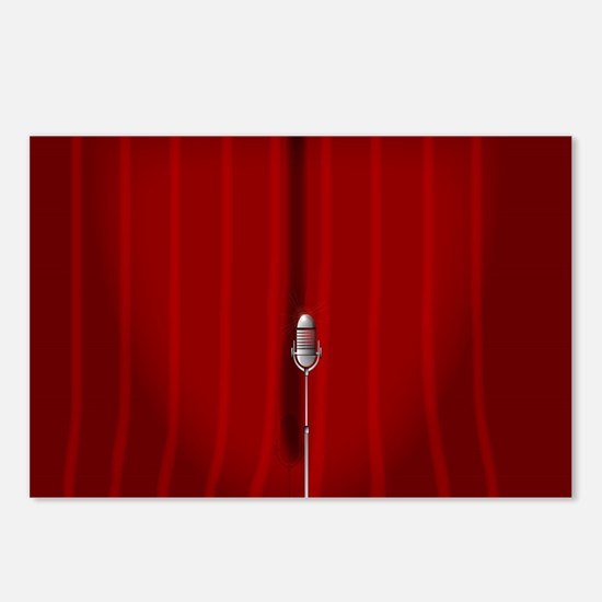 Red Stage Curtain Postcards (Package of 8)