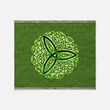 Sage Celtic Trinity Knot Throw Blanket
