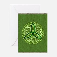 Sage Celtic Trinity Knot Greeting Cards