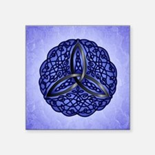 Dark Blue Celtic Trinity Knot Sticker
