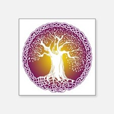 "Celtic Tree III Square Sticker 3"" x 3"""