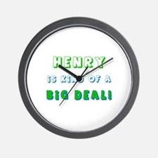 Henry Is Kind of a Big Deal  Wall Clock