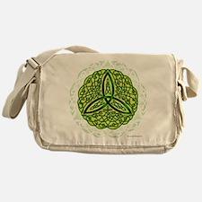 Green Celtic Trinity Knot Messenger Bag