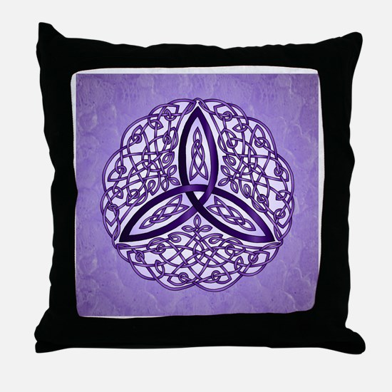 Lavender Celtic Trinity Knot Throw Pillow