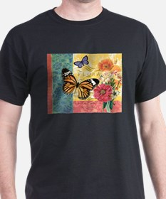 Modern vintage French butterfly and floral T-Shirt