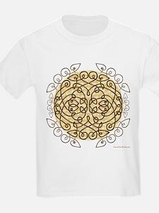 Brown Celtic Art Curls T-Shirt